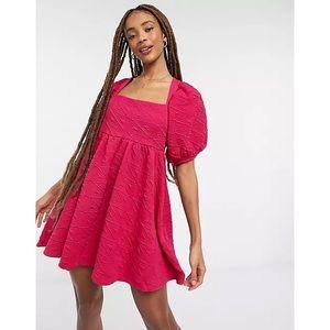 NEW Free People Violet Mini Dress Fuchsia Sz M